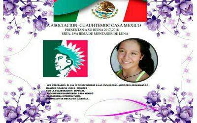 INVITACIÓN: CORONACIÓN DE LA REINA DE ASOCIACIÓN CUAUHTEMOC.